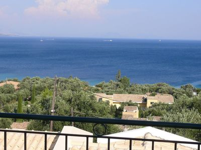 Barbati house rental - Balcony sea view
