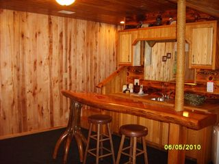 Munising chalet photo - Downstairs family room and bar area for entertaining