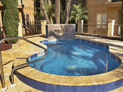 Spacious Hot Tub in the gorgeous courtyard and pool area