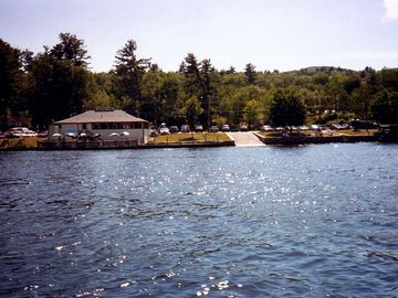 View of Alton Bay from Lake Winnipesaukee (Shibleys Pier Restaurant)