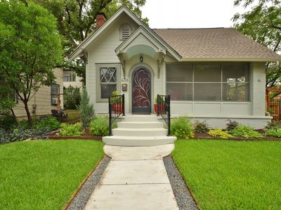 Front of House - Charming street appeal and the perfect location for your home base while in Austin!