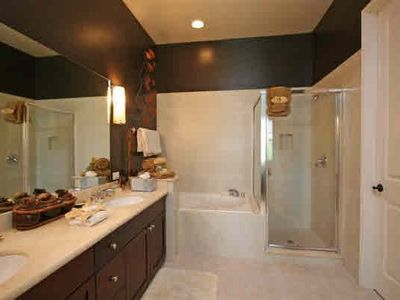 Master Bath with soaker tub, glass shower