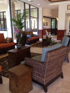 The beautiful lobby at Maui Kaanapali Villas