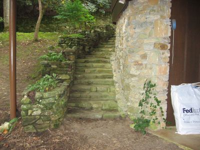 Hendersonville cottage rental - Exterior Steps