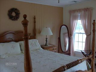 Colonial Beach house photo - The Pineapple room with a queen size bed has a waterview on 2nd floor