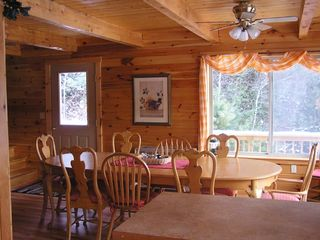 Newfound Lake house photo - Dining room in the winter