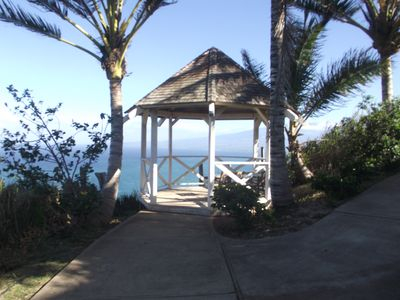 gazebo overlooking the Pacific Ocean