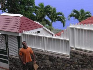 Saba house photo - Gate house & perimeter fencing assure privacy