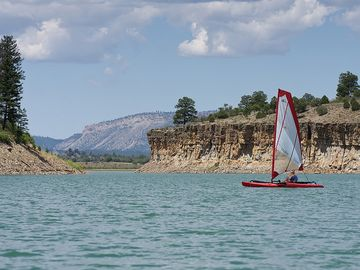Sailboat on Lake Heron