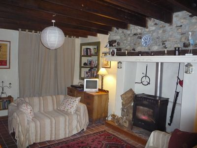 Saint-Sauveur-le-Vicomte farmhouse rental - living room