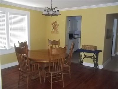 Dining Room w/ Beautiful Original Harwood Floors