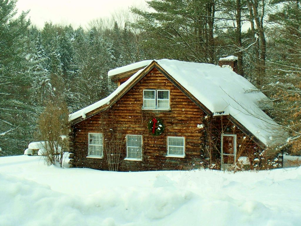 Stowe Log Cabin Private 5 Acres Hot Homeaway Stowe