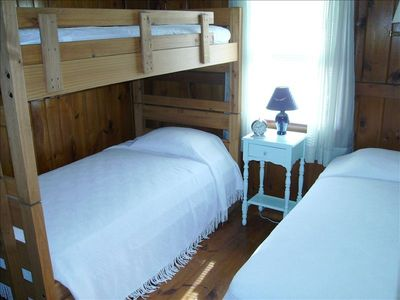Second bedroom - a single twin and twin bunkbeds