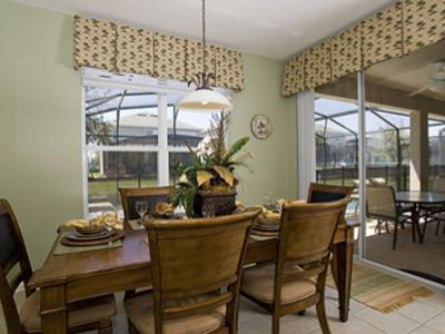 Relax in your own dining space with a home cooked meal from your private kitchen