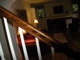Minnetonka house photo - Living room seen through stair banister 2010