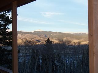 Looking South off lower deck - Jefferson cabin vacation rental photo