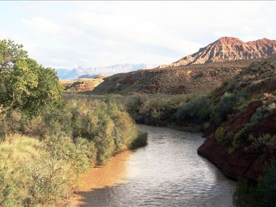 The virgin river is super close to the home to go play in!!!