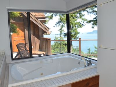 Enjoy an evening soak with your view.