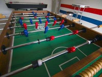 Games Room - foosball, air hockey, electronic darts, and more