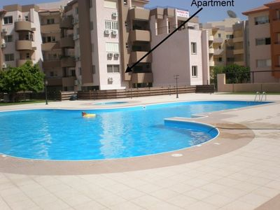Limassol City apartment rental - View of apartment from the pool