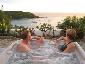 Jacuzzi at sunset