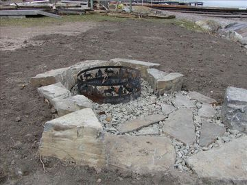 Firepit (just after installation in 2010)