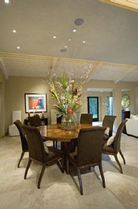 Palm Springs estate rental - Dining room with seating for eight.