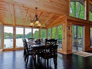 Lake Arrowhead house photo - Dining Room with a great view of the lake. Seating for 8.
