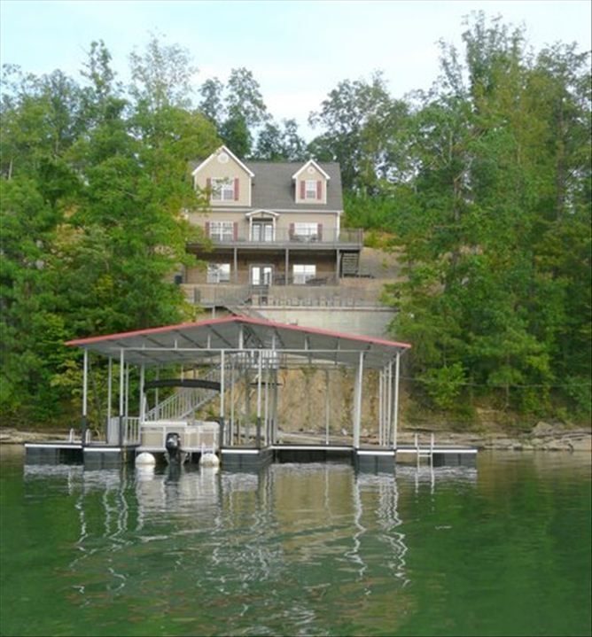 Lewis Smith Lake house rental - Lakefront view of Smith Lake Home at Lakeshore East