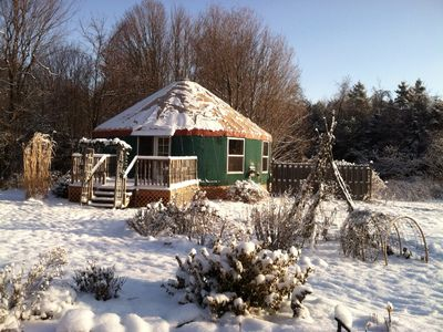 The yurt is super cozy in the winter.