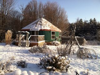 Ithaca cottage photo - The yurt is super cozy in the winter.