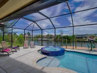 New Cape Coral Waterfront Villa, Heated Pool/Spa, Flat Screen TV's. Relax&Enjoy
