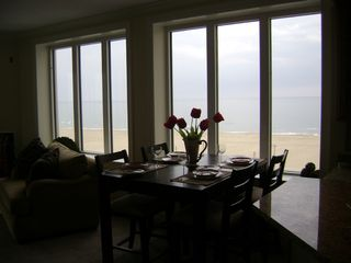 Belmont Towers Ocean City condo photo - Dining room & view