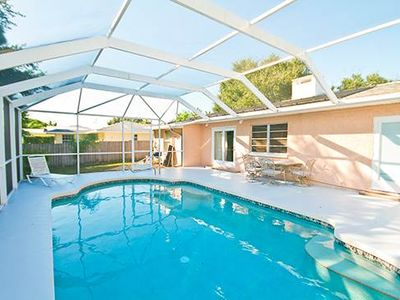 Our Bayshore house features a brand new heated pool! - Our Bayshore house features a brand new heated pool under screened lanai. You'll love being able to enjoy a swim any time of year!
