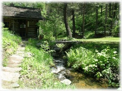 Stream running through Lodge and Cabins