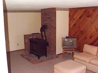 Bartlett townhome photo - lower level living area. TV , VCR and couch.