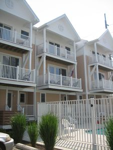 Vacation Homes in Ocean City townhome rental - Front Entry by the Pool