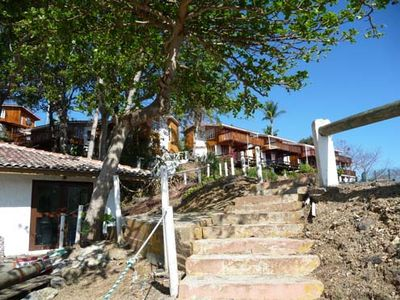 Pearl Islands villa rental - Contadora Villas - stairs from the beach area to the Villas