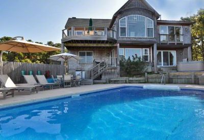 Oak Bluffs house rental - Sandy Point: Lagoon Waterfront Home With Pool