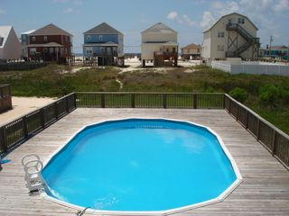 Gulf Shores house photo - Private pool for the Duplex with Beach Behind