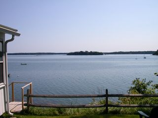 Freeport cottage photo - Here you look out at the islands from your side yard