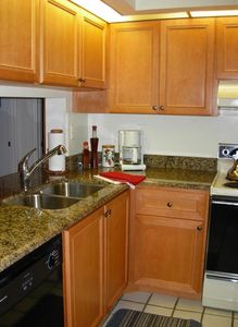 Kitchen with Granite Counters.