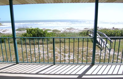 Balcony view of beachfront