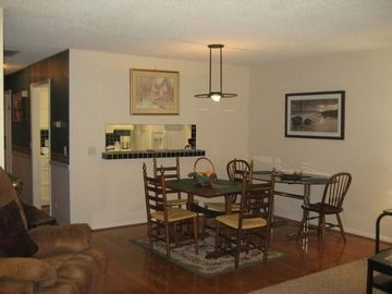 Hot Springs Village townhome rental - View from Living Room to Dining Kitchen Area