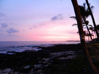 Kailua Kona condo rental - View at sunset