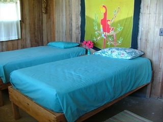 Drake Bay cottage photo - Second bedroom, beds can be made into King size or twin