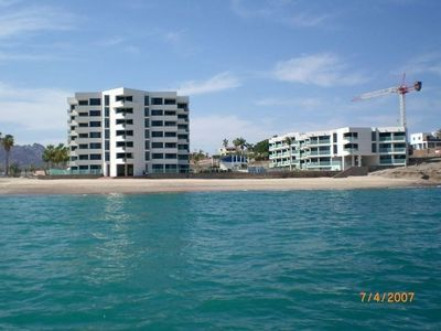 La Posada Condos from the water