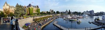 Panorama of Victoria's Inner Harbour-a short and easy drive from our home.