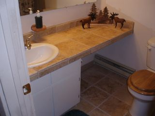 Fraser townhome photo - One of 3 Baths with Travertine Tile Accents