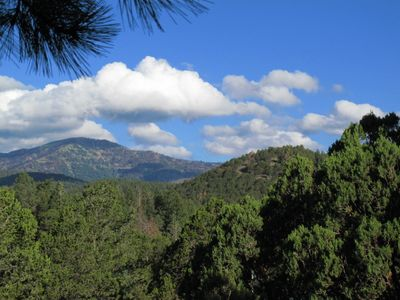 Ruidoso cabin rental - Captivating view, clean air, amazing clouds seen from the top deck